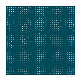 Hand Drawn Dots on Dark Teal