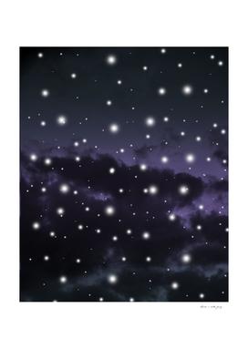 Purple Midnight Blue Cosmos Dream #1 #decor #art