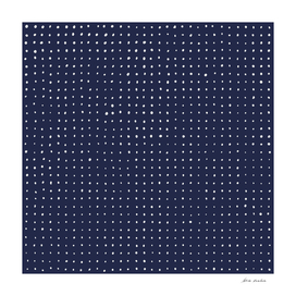 Hand Drawn Dots on Violet Dark Blue