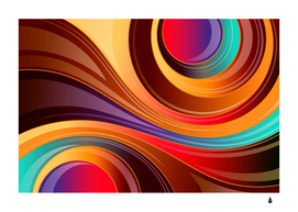 abstract colorful background wavy