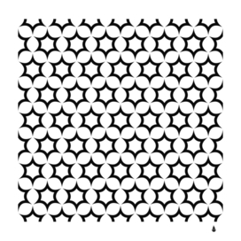 pattern star repeating black white