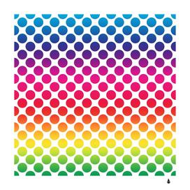 polka dots spectrum colours dots