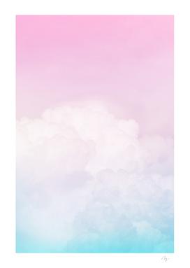 Happy Pastel Clouds | Aqua Pink