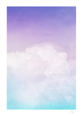 Happy Pastel Clouds | Aqua Purple