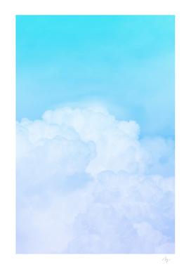Happy Pastel Clouds | Aquamarine