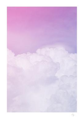 Happy Pastel Clouds | Lavender Pink