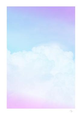 Happy Pastel Clouds | Purple Pink