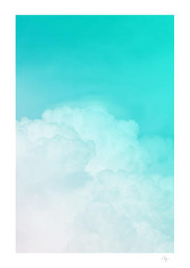 Happy Pastel Clouds | Turquoise