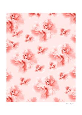 Living Coral Azalea Flower Dream #1 #floral #pattern #decor