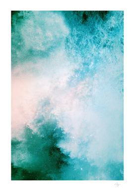 Dreamy Galaxy - Blue Green