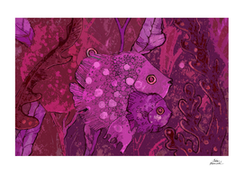 Fish Family, Purple version