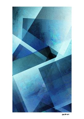 Vivid Blue Shapes - Digital Geometric Texture