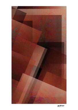 Artsy Amber - Digital Geometric Texture
