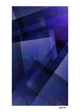 Daring Indigo - Digital Geometric Texture