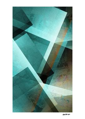 Aqua Rust - Digital Geometric Texture