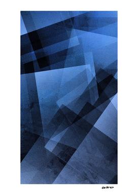 Cobalt Cubes - Digital Geometric Texture