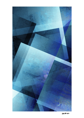 Bold Blue Blocks - Digital Geometric Texture