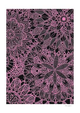 Pink Zen Mandala Pattern