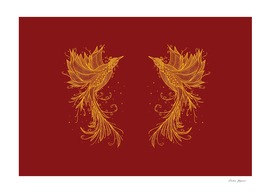 Golden Phoenix Twins Red