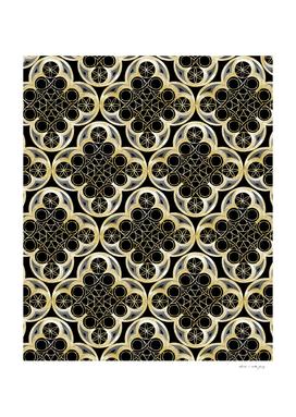 Golden Moroccan Tile Glam #1 #pattern #decor #art