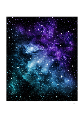 Purple Teal Galaxy Nebula Dream #1 #decor #art