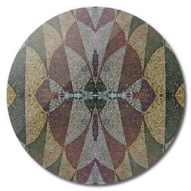 21970. Mosaic Rhythm Of Roman Baths.