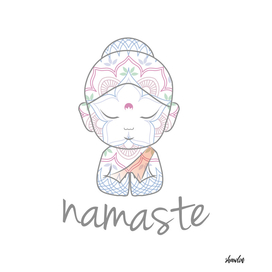 Cute Buddha sending greetings