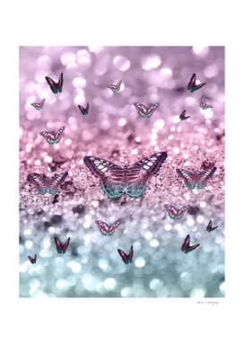 Pastel Unicorn Butterfly Glitter Dream #2 #shiny #decor #art