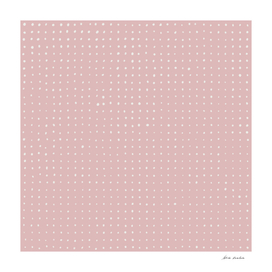 Hand Drawn Dots on Dusty Rose