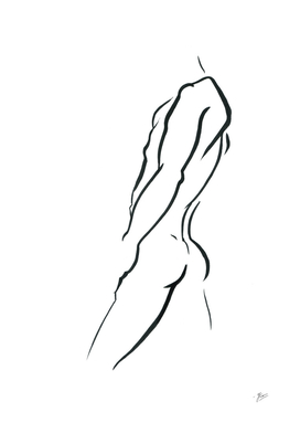 Torso. Silhouette of Man