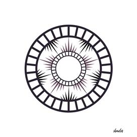 Minimalist Radial mandala