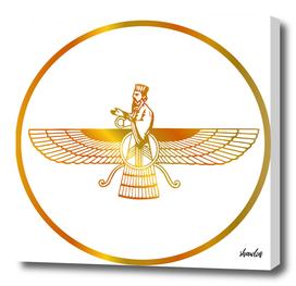 Prophet Zarathustra- symbols of Zoroastrianism Farvahar