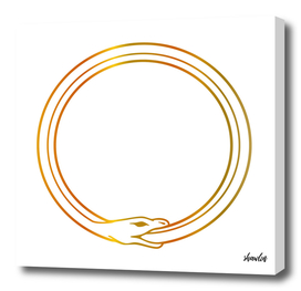 The symbol of Ouroboros snake- The self ingesting snake