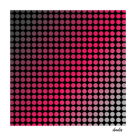 Vibrant pink polka dots or halftone pattern