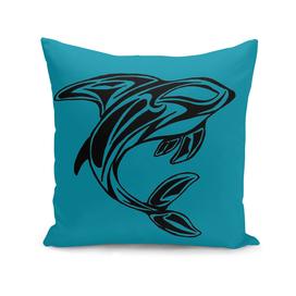 Orca Whale Tattoo Turquoise