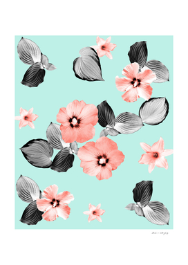 Living Coral Floral Dream #3 #flower #pattern #decor #art
