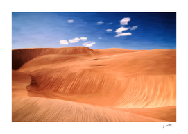 Once upon a desert, painting