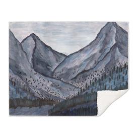 Cold Rock Watercolor