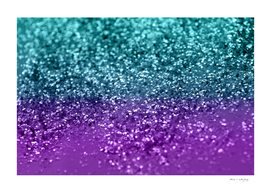 Purple Teal MERMAID Girls Glitter #1 #shiny #decor #art