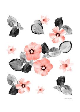 Living Coral Floral Dream #4 #flower #pattern #decor #art