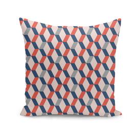 Geometric, midcentury, repeat pattern