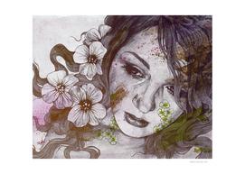 Cleopatra's Sling: Sunset (sweet eyes, flower girl portrait)