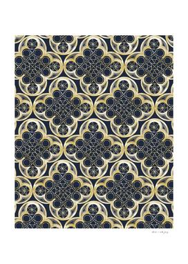 Golden Moroccan Tile Glam #2 #pattern #decor #art