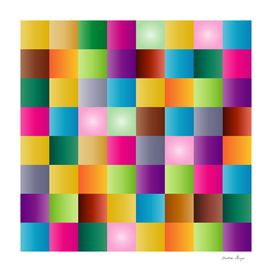 multi color square pattern