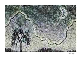 Abstract Dark Tree