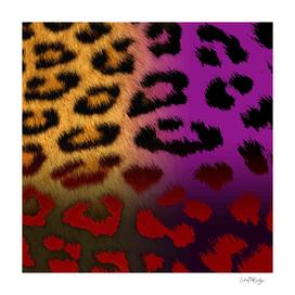 Royal Colors Leopard Print Collage