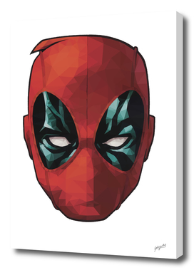Deadpool Headshot Low Poly Art Print