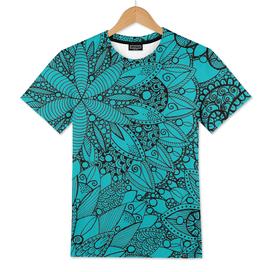 Zen Mandala Pattern Turquoise
