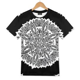 White Mandala on Black