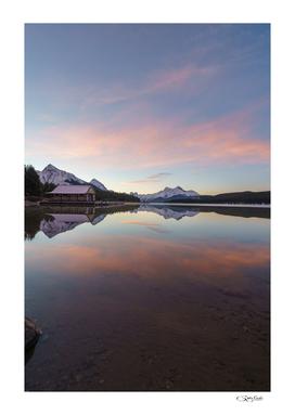 Maligne Lake at Sunrise, Jasper National Park, Canada